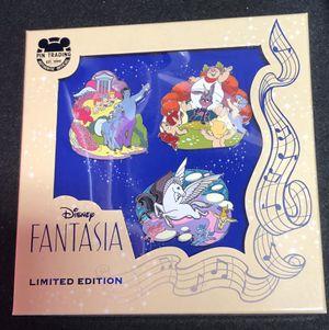New Disney Fantasia 80th Anniversary pin set for Sale in Orlando, FL