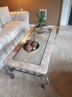 Marble and glass coffee and end tables for Sale in Snohomish, WA