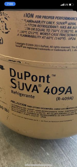 R409A REFRIGERANT 3/4 FULL for Sale in Surprise, AZ