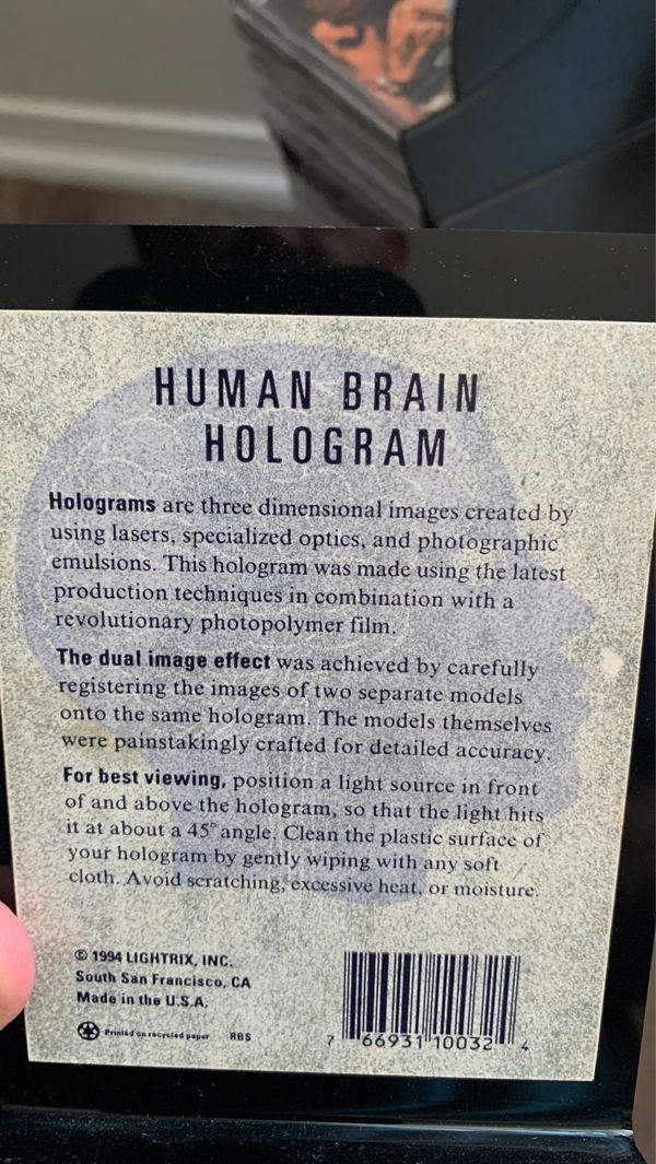 Halloween: Human brain hologram
