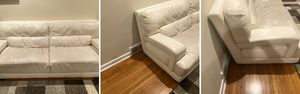 Italian Leather a set of Two(2) couches. One of them has a tear that can easily get repaired. Overall good condition. Prefer to sell as a set. for Sale in Broomall, PA