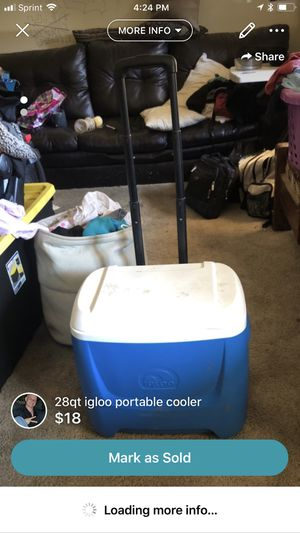 28qt igloo portable cooler for Sale in Harrisonburg, VA