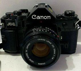 Cannon A1 pro 50mm lens w/ accessories & closeup lenses for Sale in Saratoga,  CA