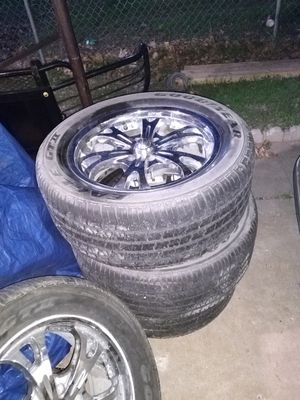 """20"""" Rims and tires for Sale in San Antonio, TX"""