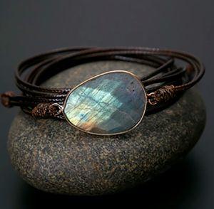 Boho Rope Wrap Natural Labradorite Stone Bracelet for Sale in Wichita, KS