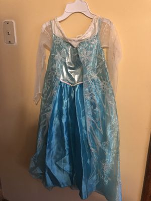 Size 7 kids Elsa dress for Sale in Lansing, IL
