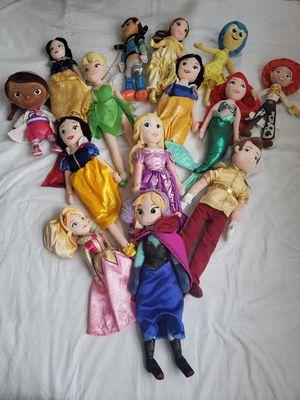 Disney Plush Ariel ,Elsa More Dolls Bundle for Sale in Landover, MD