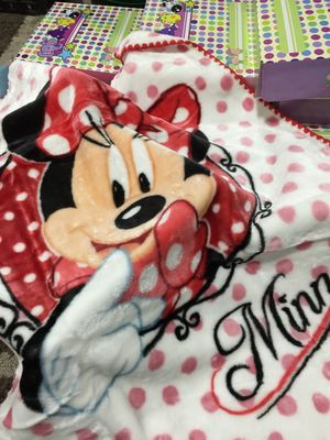 Brand new Disney character baby blanket Christmas gift box baby shower birthday new born party present $10 each 44x31 inches for Sale in Pico Rivera, CA