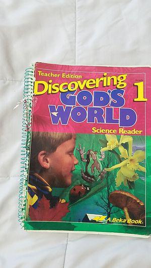 Abeka 1st grade Teacher's edition Science for Sale for sale  Oklahoma City, OK
