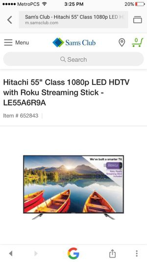 """HITATCHI 55"""" 1080p LED HD TV WITH ROKU STREAMING STICK -LE 55A6R9A ( new, in box) for Sale in Dallas, TX"""