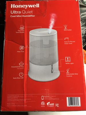 HONEYWELL ULTRA QUIET COOL MIST HUMIDIFIER HUL233W, WHITE for Sale in Los Angeles, CA