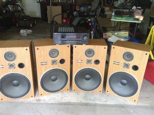 "15"" Pioneer Speakers and Denon Receiver for sale for Sale in St. Louis, MO"