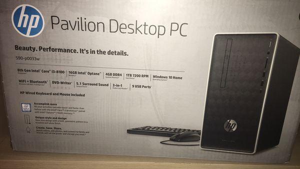 HP Pavilion Desktop PC Setup