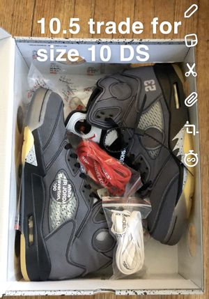 Jordan 5 off white size 10.5 for Sale in Los Angeles, CA