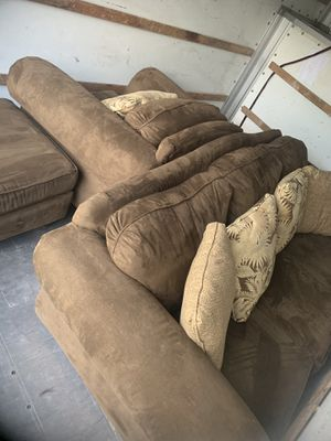 Pull out Couch, chair and ottoman for Sale in Lake Worth, FL