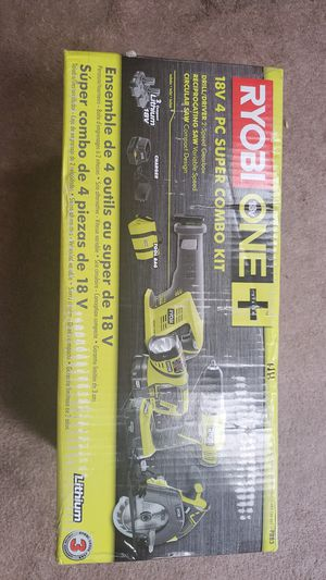 18v tool kit circular saw .sawzall .drill/driver . Flash light 2 batts. Charger.. bag ..nib for Sale in Baton Rouge, LA