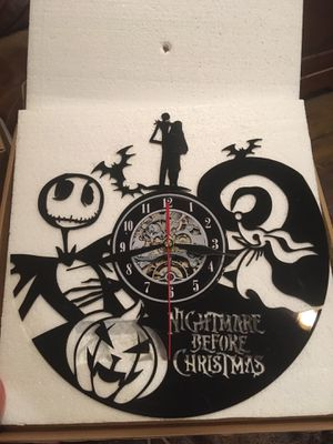 A Nightmare Before Christmas Vinyl Wall Clock for Sale in Compton, CA