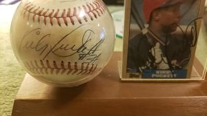 Kirby Puckett signed Baseball and Baseball Card with holder for Sale in Kirkland, WA