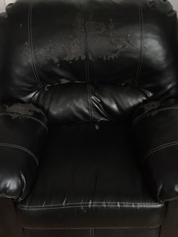 Free Ashley Pleather Reclining Couch And Chair for Sale in Springfield,  PA
