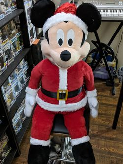 Huge Christmas Santa Mickey Mouse Stuffed Animal - Pristine Condition for Sale in Los Angeles,  CA