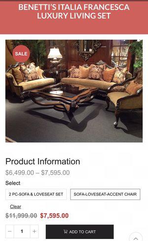 6 PIECE LIVING ROOM SET HIGH END for Sale in Hemet, CA