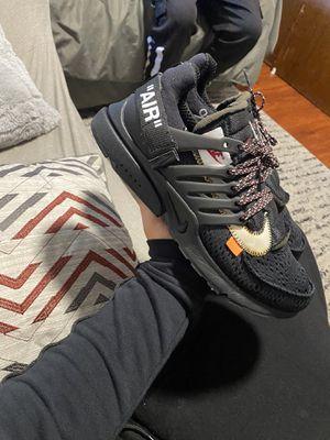 Nike off white black prestos size 10 ( NEGOTIABLE) for Sale in San Bruno, CA