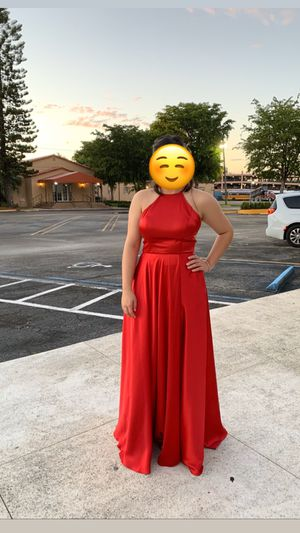 Silk red dress prom, wedding , formal for Sale in Miami, FL