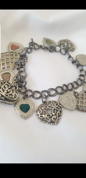 HEART CHARMS BRACELET for Sale in Tracy, CA
