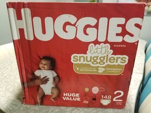 Huggies Size 2 Little Snugglers Diapers- 148 ct for Sale in Livermore, CA