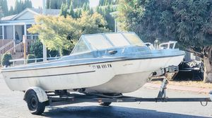 Sea swirl Boat and calkin trailer for Sale in Keizer, OR