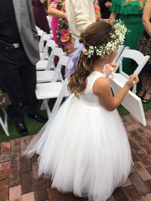 Flower girl dress size 6-6x for Sale in Kissimmee, FL