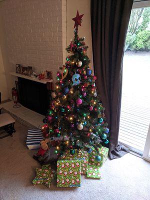 Christmas tree - Artificial - Pre lit for Sale in Bellevue, WA