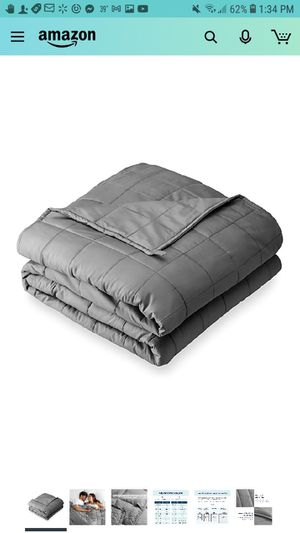 "Weighted Blanket for Adults and Kids 17lb (60"" x 80"") - All-Natural 100% Cotton - Premium Heavy Blanket Nontoxic Glass Beads (Grey, 60""x80"") for Sale in Phoenix, AZ"