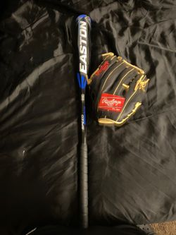 Easton Bat and Rawlings Baseball Glove for Sale in Indianapolis,  IN