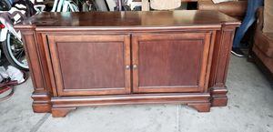 Wooden Entertainment Center and Console for Sale in Las Vegas, NV