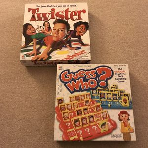 Twister and Guess Who classic board games complete toys for Sale in Burtonsville, MD
