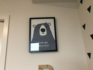 Bear poster with frame for Sale in Mercer Island, WA