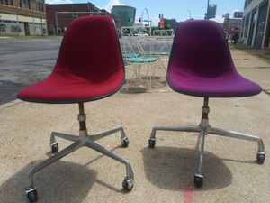 Retro HERMAN MILLER rolling La Fonda Eames Swivel Chairs for sale for Sale in St. Louis, MO