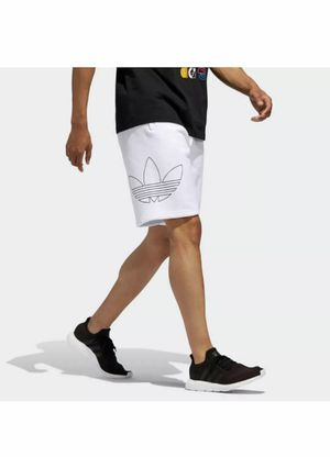 NEW MEN'S ADIDAS ORIGINALS TREFOIL OUTLINE SHORTS ~SIZE L #DV3275 WHITE New with tags for Sale in French Creek, WV