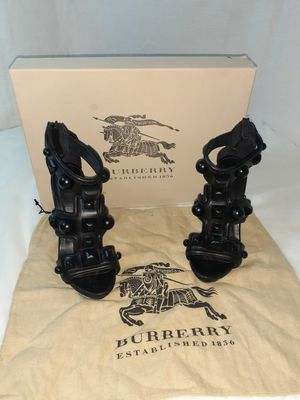 Black 6-inch Burberry heels for Sale in Arlington, TX