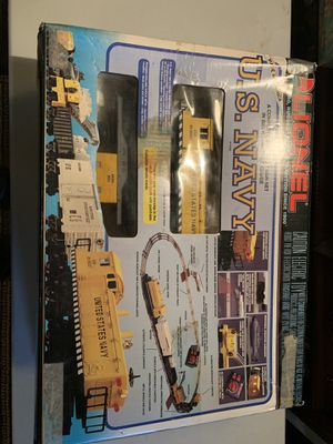 LIONEL A COMPLETE ELECTRIC TRAIN SET IN BIG RUGGED 027 GAUGE US NAVY! 6-11745! COMPLETE IN BOX! PRICED TO SELL! for Sale for sale  Queens, NY