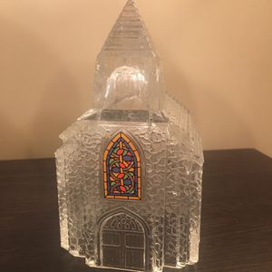 Clear Vintage Pressed Glass Village Church Table Top for Sale in Pittsburgh, PA