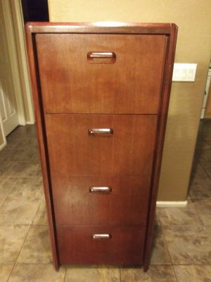 Wood File Cabinet for Sale in Maricopa, AZ