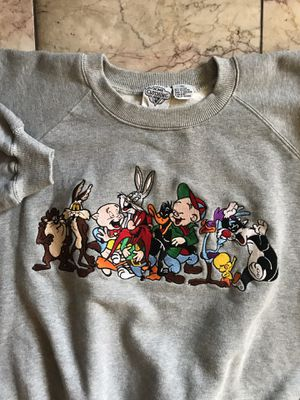 Vintage Acme LOONEY TUNES Embroidered L/S Pull Over Sweat Shirt for Sale in Alameda, CA