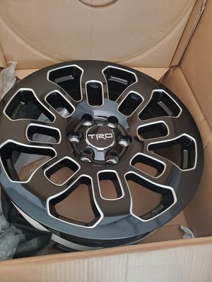20x9 black milled Toyota Trd Pro rims Qt. 4 brand new. Bolt pattern 6x139,7 mm 6x5.5, center bore 106.1mm for Sale in Fort Lauderdale, FL