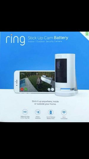 New Ring Stick Up Cam Battery Indoor Outdoor Wireless Security Camera 1080HD White for Sale in Orange, CA