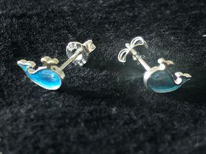 Sterling Silver CZ stud earrings /Blue Whale for Sale in Las Vegas, NV