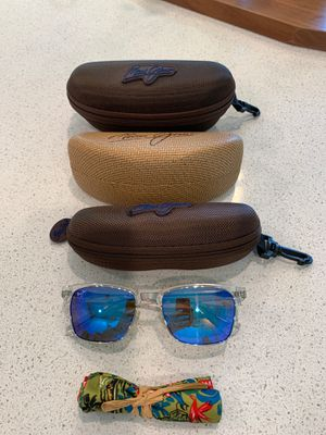 Maui Jim Kawika Clear Sunglasses with Hawaiian Blue Lens for Sale in Tomball, TX