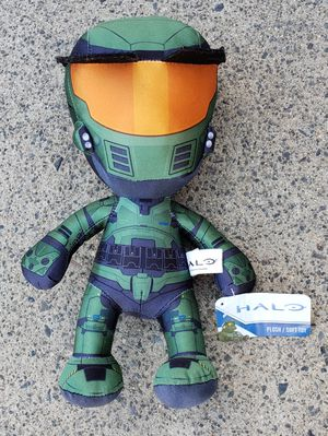 "HALO MASTER CHIEF 12"" Green Soft PLUSH Doll with Tag for Sale in Lake Elsinore, CA"