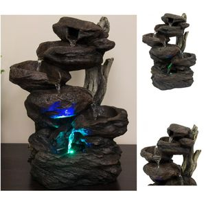 6-Tier Tabletop Indoor Fountain Waterfall w/ Multicolor LED Lights Garden for Sale in New York, NY